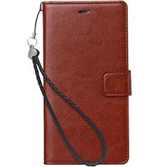 Handytasche Stand Schutzhülle Leder für Nokia 3.1 Plus Braun