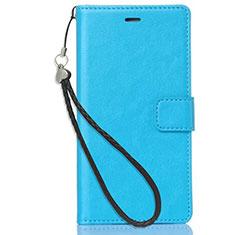 Handytasche Stand Schutzhülle Leder für Nokia 3.1 Plus Hellblau