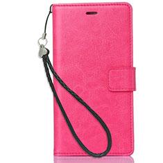Handytasche Stand Schutzhülle Leder für Nokia 3.1 Plus Pink