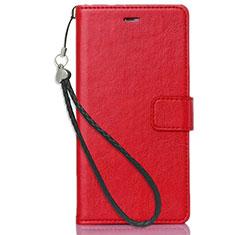 Handytasche Stand Schutzhülle Leder für Nokia 3.1 Plus Rot