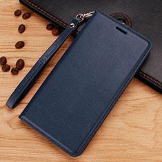 Handytasche Stand Schutzhülle Leder für Nokia 7.1 Plus Blau