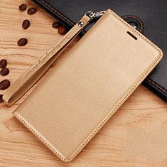 Handytasche Stand Schutzhülle Leder für Nokia 7.1 Plus Gold