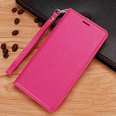 Handytasche Stand Schutzhülle Leder für Nokia 7.1 Plus Pink