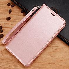 Handytasche Stand Schutzhülle Leder für Nokia 7.1 Plus Rosegold
