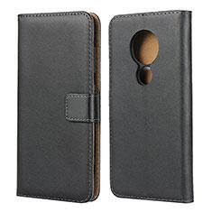 Handytasche Stand Schutzhülle Leder für Nokia 7.2 Schwarz