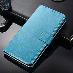 Handytasche Stand Schutzhülle Leder für Nokia 9 PureView Hellblau