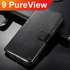 Handytasche Stand Schutzhülle Leder für Nokia 9 PureView Schwarz