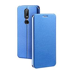 Handytasche Stand Schutzhülle Leder für Nokia X5 Blau