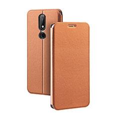 Handytasche Stand Schutzhülle Leder für Nokia X5 Braun