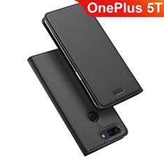Handytasche Stand Schutzhülle Leder für OnePlus 5T A5010 Schwarz
