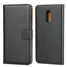 Handytasche Stand Schutzhülle Leder für OnePlus 7 Schwarz