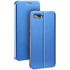 Handytasche Stand Schutzhülle Leder für Oppo K1 Blau
