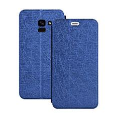 Handytasche Stand Schutzhülle Leder für Samsung Galaxy A5 (2018) A530F Blau