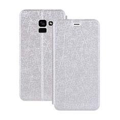 Handytasche Stand Schutzhülle Leder für Samsung Galaxy A5 (2018) A530F Weiß