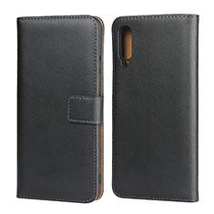 Handytasche Stand Schutzhülle Leder für Samsung Galaxy A50 Schwarz
