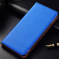 Handytasche Stand Schutzhülle Leder für Samsung Galaxy A6s Blau