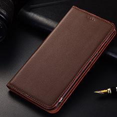 Handytasche Stand Schutzhülle Leder für Samsung Galaxy A6s Braun