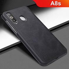 Handytasche Stand Schutzhülle Leder für Samsung Galaxy A8s SM-G8870 Schwarz