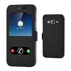 Handytasche Stand Schutzhülle Leder für Samsung Galaxy Amp Prime J320P J320M Schwarz