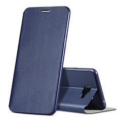 Handytasche Stand Schutzhülle Leder für Samsung Galaxy C7 SM-C7000 Blau