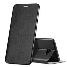 Handytasche Stand Schutzhülle Leder für Samsung Galaxy C7 SM-C7000 Schwarz