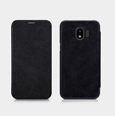 Handytasche Stand Schutzhülle Leder für Samsung Galaxy J2 Pro (2018) J250F Schwarz