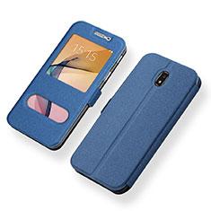 Handytasche Stand Schutzhülle Leder für Samsung Galaxy J5 (2017) SM-J750F Blau