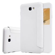 Handytasche Stand Schutzhülle Leder für Samsung Galaxy J5 Prime G570F Weiß
