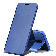 Handytasche Stand Schutzhülle Leder für Samsung Galaxy J7 Plus Blau