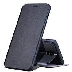 Handytasche Stand Schutzhülle Leder für Samsung Galaxy J7 Plus Schwarz