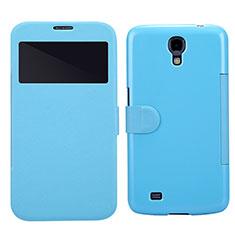 Handytasche Stand Schutzhülle Leder für Samsung Galaxy Mega 6.3 i9200 i9205 Blau