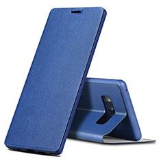 Handytasche Stand Schutzhülle Leder für Samsung Galaxy Note 8 Duos N950F Blau