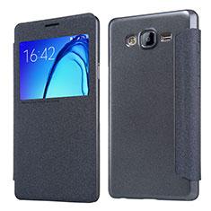 Handytasche Stand Schutzhülle Leder für Samsung Galaxy On5 G550FY Schwarz