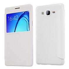Handytasche Stand Schutzhülle Leder für Samsung Galaxy On5 G550FY Weiß