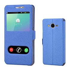 Handytasche Stand Schutzhülle Leder für Samsung Galaxy On7 G600FY Blau
