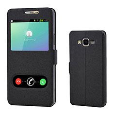 Handytasche Stand Schutzhülle Leder für Samsung Galaxy On7 G600FY Schwarz