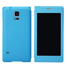 Handytasche Stand Schutzhülle Leder für Samsung Galaxy S5 G900F G903F Hellblau