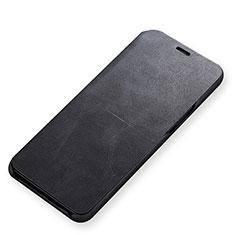 Handytasche Stand Schutzhülle Leder für Samsung Galaxy S9 Schwarz