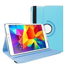 Handytasche Stand Schutzhülle Leder für Samsung Galaxy Tab 4 7.0 SM-T230 T231 T235 Hellblau