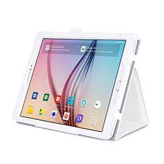 Handytasche Stand Schutzhülle Leder für Samsung Galaxy Tab S2 9.7 SM-T810 SM-T815 Weiß