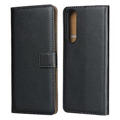Handytasche Stand Schutzhülle Leder für Sony Xperia 1 II Schwarz