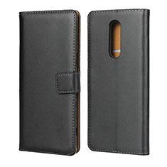 Handytasche Stand Schutzhülle Leder für Sony Xperia 1 Schwarz