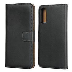 Handytasche Stand Schutzhülle Leder für Sony Xperia 10 II Schwarz