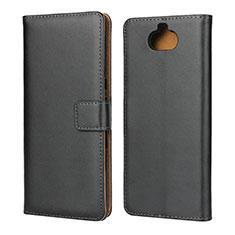 Handytasche Stand Schutzhülle Leder für Sony Xperia 10 Schwarz