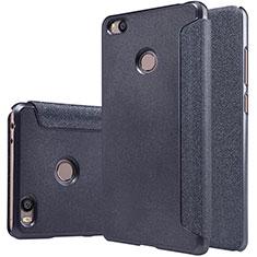 Handytasche Stand Schutzhülle Leder für Xiaomi Mi 4S Schwarz