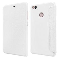 Handytasche Stand Schutzhülle Leder für Xiaomi Mi 4S Weiß