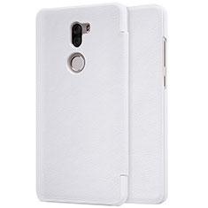 Handytasche Stand Schutzhülle Leder für Xiaomi Mi 5S Plus Weiß