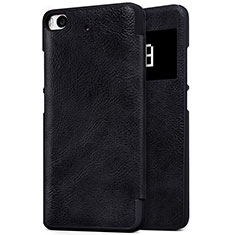Handytasche Stand Schutzhülle Leder für Xiaomi Mi 5S Schwarz