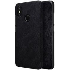 Handytasche Stand Schutzhülle Leder für Xiaomi Mi 8 Schwarz