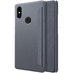 Handytasche Stand Schutzhülle Leder für Xiaomi Mi 8 SE Schwarz